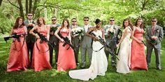 Funny Wedding Photos...Guns galore (Animallove99 via Reddit)