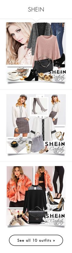 """""""SHEIN"""" by creativity30 ❤ liked on Polyvore featuring shein, Shinola, Anne Klein and Bobbi Brown Cosmetics"""