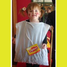 This tea bag costume is pretty cute on this toddler, but I think anyone could look good in this. The best part of this Halloween costume is the brand of tea can be customized to represent your favorite tea. Use a pillowcase for the bag, the side of a tea box and thin rope for the string, then some stuffing on an inside pocket to finish the tea bag look. If your really creative maybe you could create a t-sleeve® costume, if you do please share a photo with us at: www.facebook.com/tsleeve.