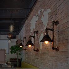 La Conduite D'eau de cru Appliques Murales Mur De Décoration Personnalisée Lampes Loft Entrepôt Industriel Fixations Murales Éclairage Edison Ampoules(China (Mainland))