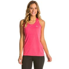 Adidas Womens Ultimate Tank ($22) ❤ liked on Polyvore featuring activewear, activewear tops, adidas, adidas sportswear and adidas activewear