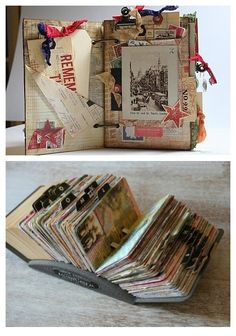 Use Rolodex for a scrapbook, journal or photo album! Altered Books, Altered Art, Mini Albums, Book Crafts, Paper Crafts, Rolodex, Ideias Diy, Handmade Books, Art Journal Inspiration