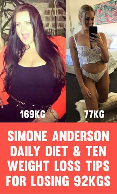 Simone Anderson Pretscherer started her weight loss journey at 169kg or 372 pounds, going frrom a size 28/30 to a size 12 in a little under two years. Simone has over 235,000 followers on her Instagram page (be sure to follow her below) who she inspires with daily photos and updates. Simone has shown her …