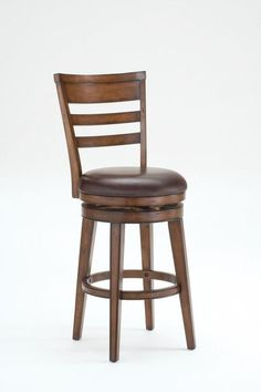 "Hillsdale Furniture 26"" 4685-827 Villagio Swivel Counter Stool - Ladder Back"