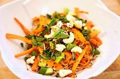 Let's take a trip to Thailand! This salad isn't just a few lettuce leaves tossed with a thai dressing. Oh no, this salad is a hearty meal that will leave. Thai Noodle Salad, Thai Noodles, Edgy Veg, Spicy Thai, Lettuce Leaves, Salad Recipes, Veggies, Hearty Meal, Vegetarian