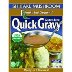 I'm learning all about Road's End Organics Gluten Free Shiitake Mushroom Gravy Mix at @Influenster!