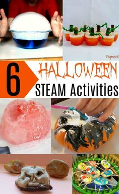 Halloween STEAM Activities for Kids. Dry ice crystal ball, pumpkin slime, shrunken apple heads, spider web physics and more. Awesome educational science, STEM and STEAM activities for the classroom or at home. Halloween Science, Halloween Activities For Kids, Educational Activities For Kids, Steam Activities, Autumn Activities, Science For Kids, Halloween Crafts, Halloween Party, Easy Halloween