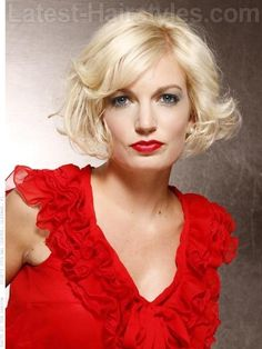 Curly Bob Pale Platinum Tousled Short Cut
