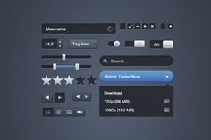 Free PSD Files: 60+ UI Kits And Web Design Elements