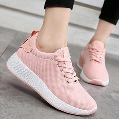 56aea17a5bc Comfortable women sneakers air mesh spring autumn shoes solid  black white pink female shoes zapatillas mujer plus size 34-40