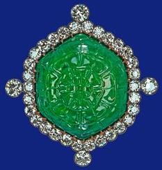 Emerald and Diamond brooch, presented to Queen Mary at the Delhi Durbar by the  Ladies of India and inherited by Queen Elizabeth in 1953