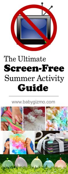 The Ultimate Scree-Free Summer Activity Guide - Over 20 ideas!! #summer #screenfree #playdoh #diy