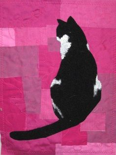Quilting Cats and Dogs.  Quilting art.  #pets