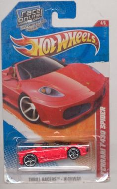 Hot Wheels 2011-190/244 Thrill Racers-Highway Ferrari F430 Spider Race On Line Card 1:64 Scale by Mattel. $12.49. Thrill Racers-Highway. 1:64 Scale