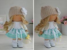 Fabric doll handmade Tilda doll Interior doll por AnnKirillartPlace