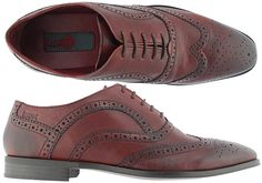 Ikon Hampton Bordo Mens Cambridge Leather Shoes View 2