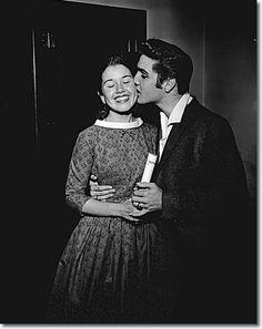 Elvis backstage with a fan: June 3, 1956 - Oakland Auditorium
