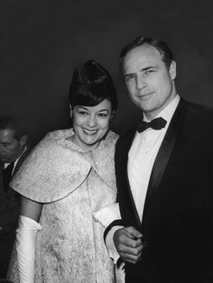 Mr. Brando and wife Movita