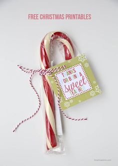 Simple and cute free Christmas printable tags for friends, teachers and neighbors!