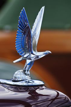 1940 Packard Custom Super-Eight 180 Convertible Victoria Hood Ornament Photograph by Jill