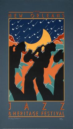 Jazz Fest - have these posters hanging all over my house. Jazz Fest - have these posters hanging all over my house. Jazz Festival, Festival Posters, Concert Posters, Rock Posters, Music Posters, Musikfestival Poster, Blue Poster, Poster Prints, New Orleans Music