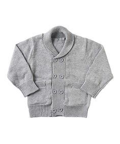 Look what I found on #zulily! K&K Interiors Light Gray Cardigan - Infant by K&K Interiors #zulilyfinds