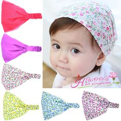 Printed cotton headband hairband Bandanas Headscarf Band 1-3 Year