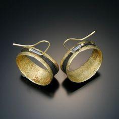 Chris Nelson, artist, as seen on Ganoksin.  I love the design for the ear wires!