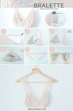 Creating DIY Fashion Trends – Designer Fashion Tips Lingerie Couture, Sewing Lingerie, Lace Lingerie, Diy Clothing, Sewing Clothes, Clothing Patterns, Fashion Sewing, Diy Fashion, Ideias Fashion