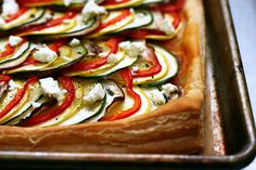 this ratatouille tart is good! perfect also as an addition to some grilled chicken :) guests loved it...
