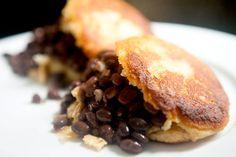 Black Bean and Chili Scrambled Egg Arepas