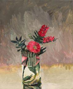 Silver Princess Gum flowers oil on linen, x 61 cm Abstract Flower Art, Flower Artists, Still Life Flowers, Still Life Art, Australian Artists, Botanical Art, Flower Photos, Portrait Art, Beautiful Paintings