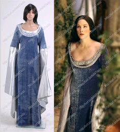 The Lord Of The Rings Cosplay Arwen Blue Dress Costume Halloween Well Made New Elf Costume, Costume Dress, Cosplay Costumes, Movie Costumes, Cosplay Ideas, Halloween Dress, Halloween Cosplay, Halloween Costumes, Halloween Party