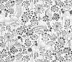 Weekly Design Challenge – Winter Toile (monochromatic) – Spoonflower