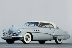 A beautiful pale grey-blue 1949 Buick Riviera Roadmaster Hardtop. #vintage #cars #1940s