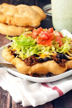 Navajo Tacos (In Oklahoma these are just called Indian Tacos).