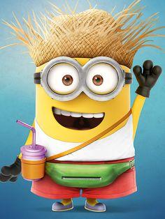 Vacation Minion Despicable Me 3 Mini Cardboard Cutout / Standee / Stand up Minion Dave, My Minion, Minion Banane, Minion Smile, Minions Friends, Minion Characters, Minion Mayhem, Minions Despicable Me, Minions 2014