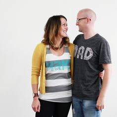 Mama tank and DAD tees from tbeapparel.com