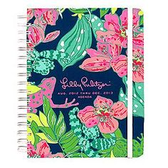 A Lily Pulitzer Agenda - Keep up with all of your social events, I mean classes!  A must have for college girls!