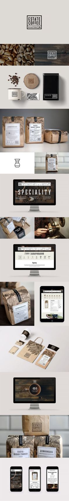 Estate Coffee Roasters on Behance | Fivestar Branding – Design and Branding…