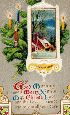 antique or vintage Christmas card