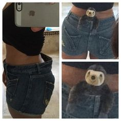 When you're trying to wear pants and the butt gap is so big that a baby sloth could comfortably fit in there. | 23 Awkward Moments Every Curvy Girl Knows Too Well