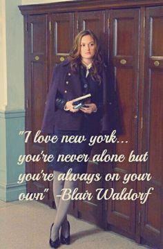 Blair Waldorf.   This is the EXACT reason I miss Atlanta.