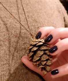 If you feel like getting crafty this #autumn, why not make a pine cone necklace! #diy