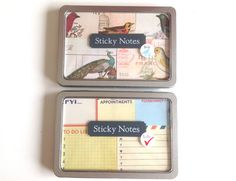 sticky note set  birds or vintage to do by MelsEclecticsupplies, $13.00