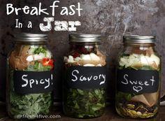 Breakfast in a Jar   { Saute & Add Eggs }  #Fresh4Five