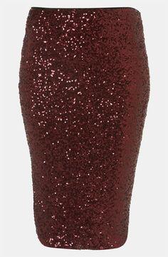 Topshop Sequin Skirt (Petite) | Nordstrom