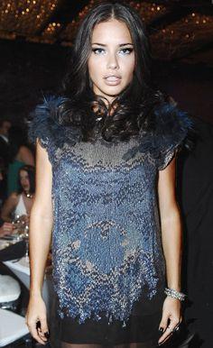 Adriana Lima - gorgeous make-up!