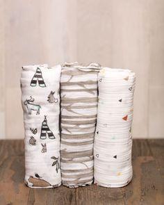 Cotton Swaddle Set - Forest Friends
