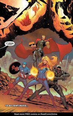 Avengers Chapter 15 - Page 23 Arte Dc Comics, Marvel Comics Art, Avengers Comics, Marvel Heroes, Captain Marvel, Cosmic Comics, Marvel Universe, Comic Books Art, Comic Art